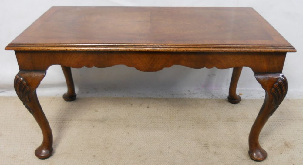 Carved Walnut Coffee Table- SOLD